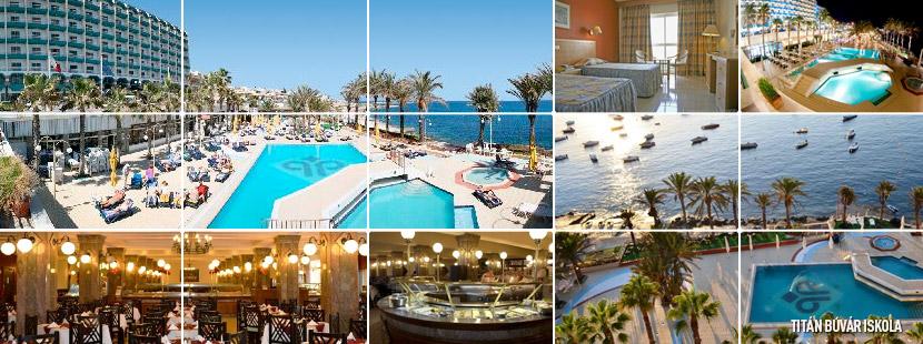 Qawra Palace Hotel, málta, búvár, túra