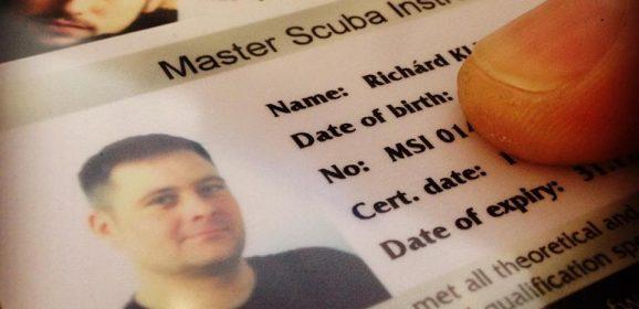 Master Scuba Instructor-ok lettünk