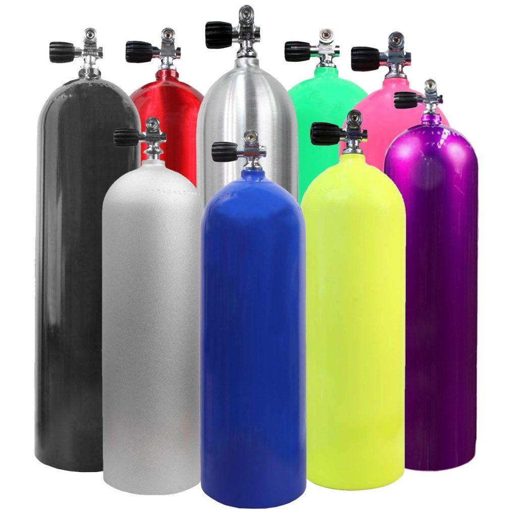 búvárpalack, fiziologia, oxigén palack