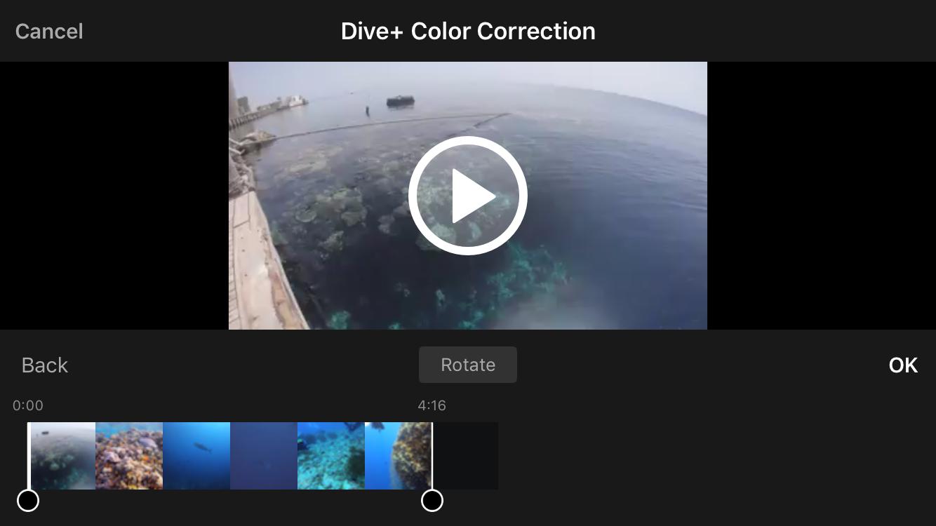 dive+-buvar-film-video-szin-beallitas-korigalas-korrekcio-applikacio-vagas