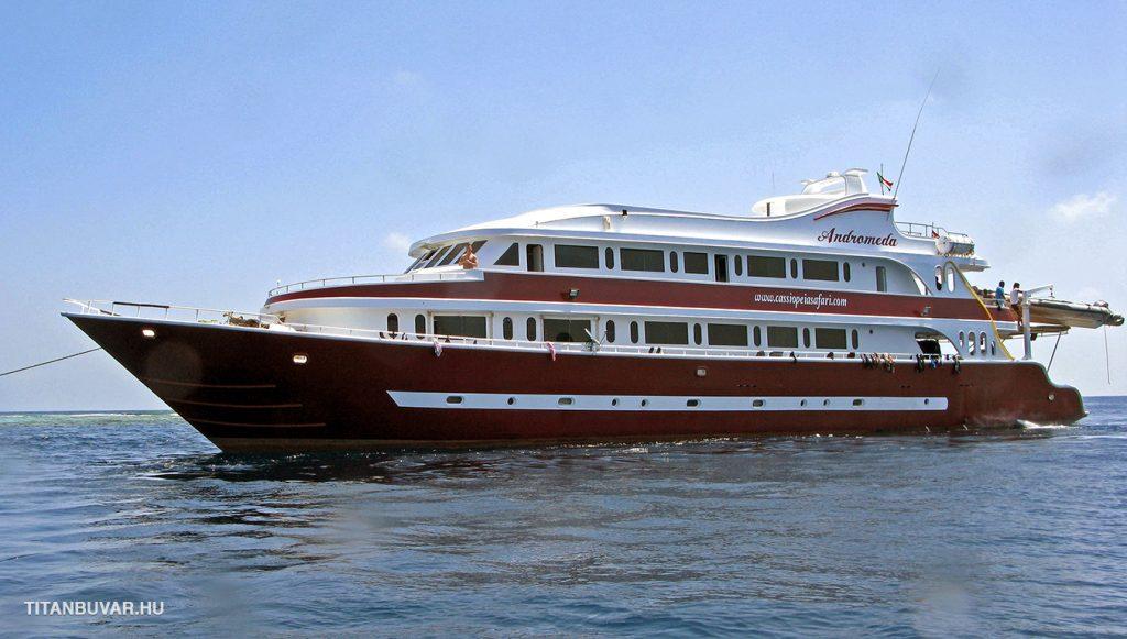Androméda búvár búvárhajó, búvárszafari, egyiptom, vörös-tenger, szudá, sudan, diving trip, safari boat